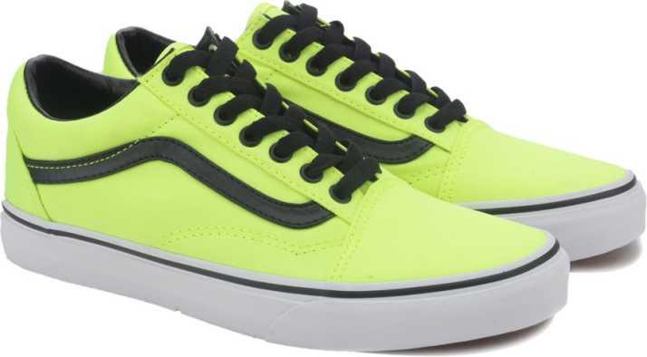 Vans Old Skool Sneakers For Men - Buy (Brite) neon yellow black ... 2c97204d1