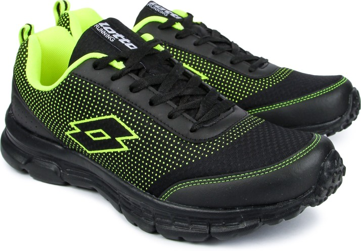 Lotto Splash Black/ Lime Running Shoes
