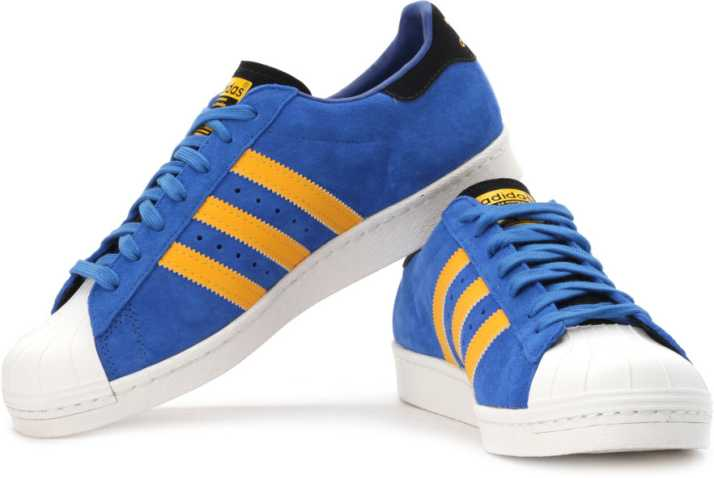 adidas superstar blue yellow