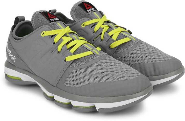 REEBOK CLOUDRIDE DMX Walking Shoes For Men - Buy GREY YELLOW WHITE ... 91a2ca54e