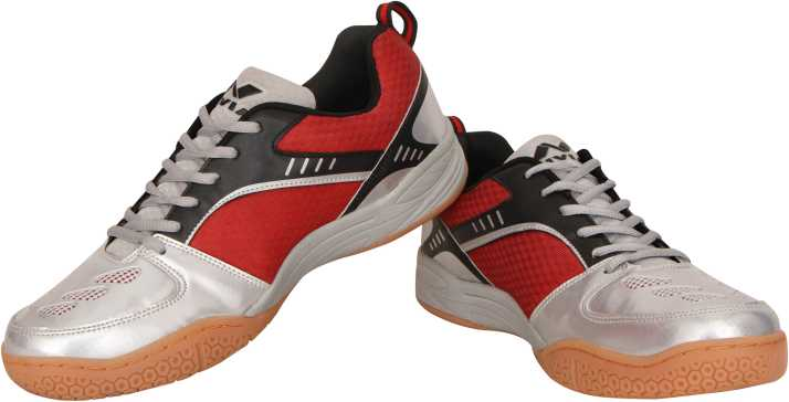 Nivia Badminton Shoes Appeal Colour Red//Silver Size UK 8