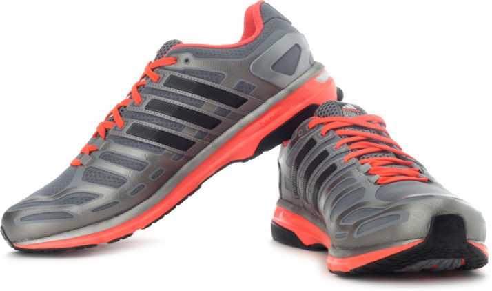 big sale e38ba a4da0 ADIDAS Sonic Boost M Running Shoes For Men (Grey, Black, Pink)