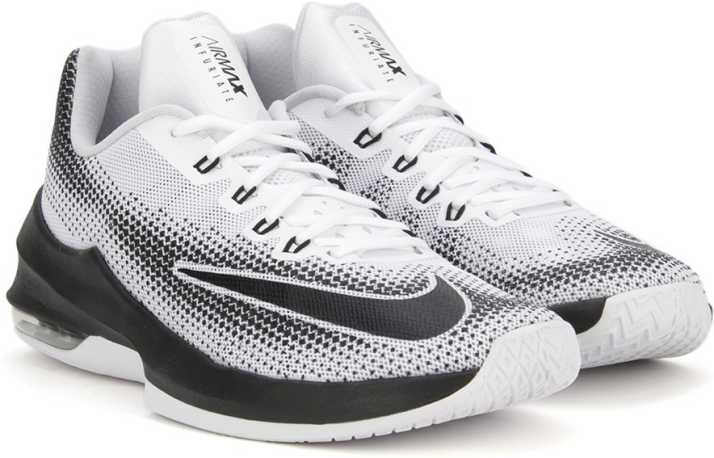 7185e67750 Nike AIR MAX INFURIATE LOW Basketball Shoes For Men - Buy WHITE ...