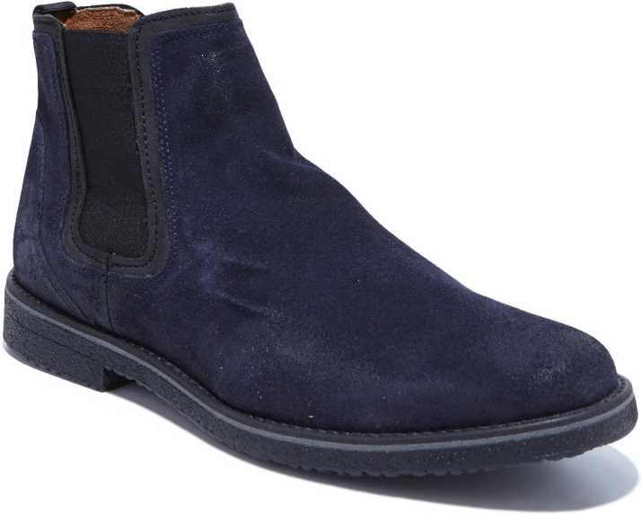 3118507a3f5 GBX Boots For Men - Buy Dark Blue Color GBX Boots For Men Online at ...