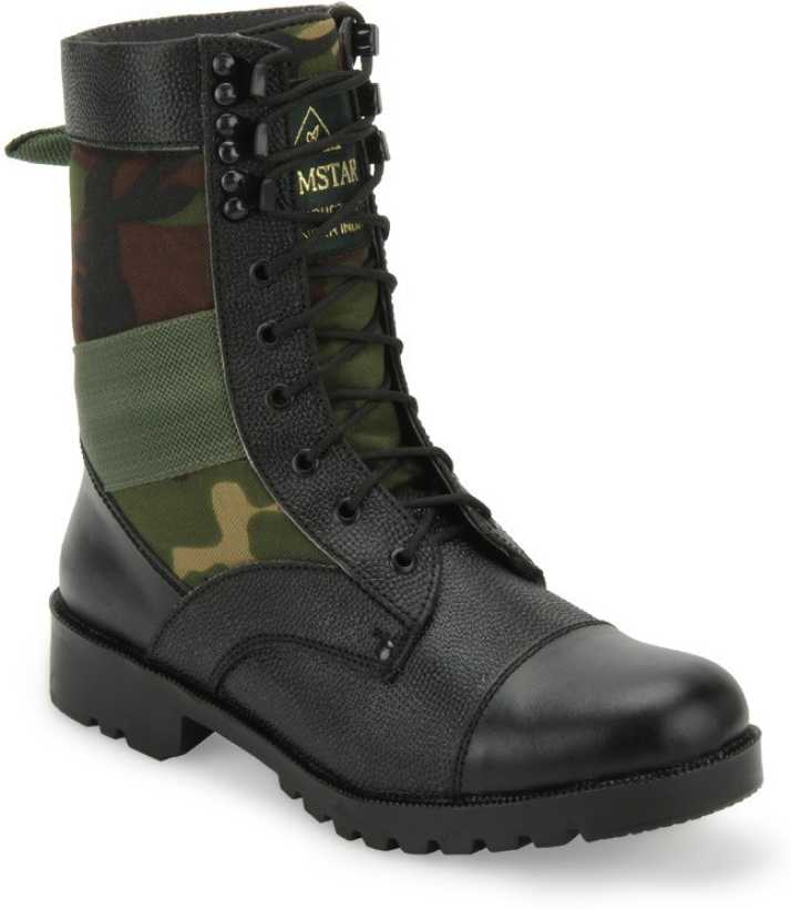 detailed look d77c0 81eda Benera Camouflage High Ankle Boots Boots For Men
