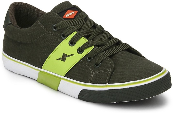 Sparx Canvas Shoes For Men - Buy Green