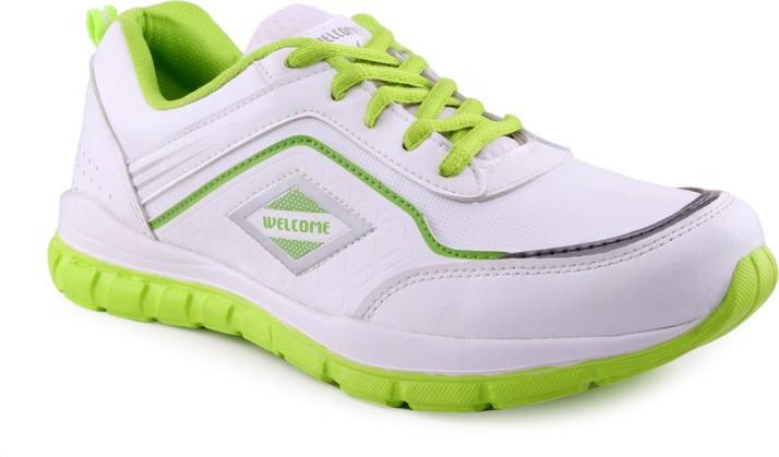 White P Green Running Shoes For Men