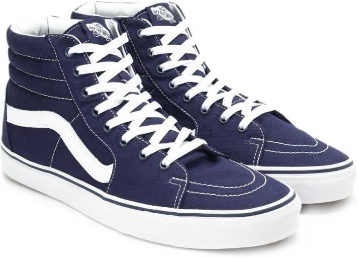9796a39ee9 Vans Sk8-Hi Sneakers For Men - Buy (Canvas) Patriot Blue Color Vans ...