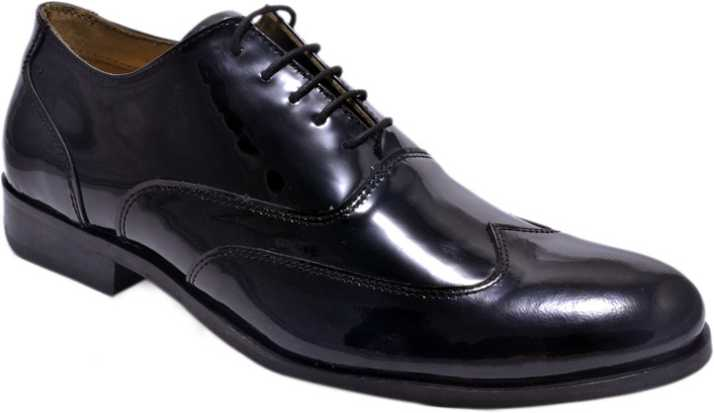 94a5b92123 Hirel s Mens Patent Leather Brogues Lace Up Shoes For Men - Buy ...