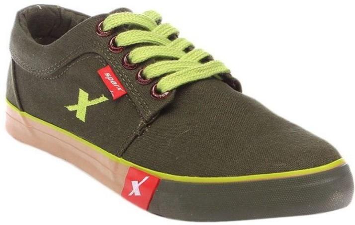 Sparx Canvas Shoes For Men - Buy Olive