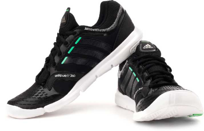 the latest 730d3 0aac6 ADIDAS Adipure Trainer 360 Training Shoes For Men (Black, White)