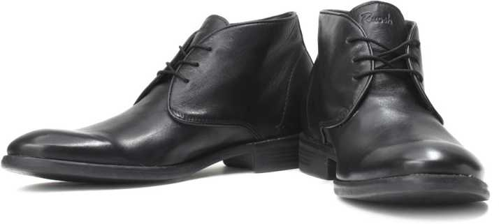 0950478f959 Ruosh Genuine Leather Semi-Formal Shoes For Men - Buy Black Color ...