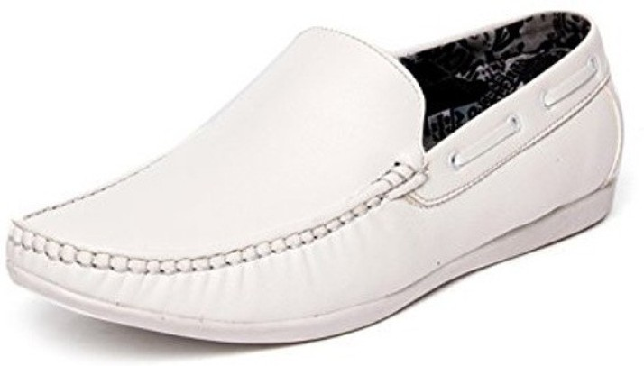 CoolSwagg Stylish Men's White Loafers