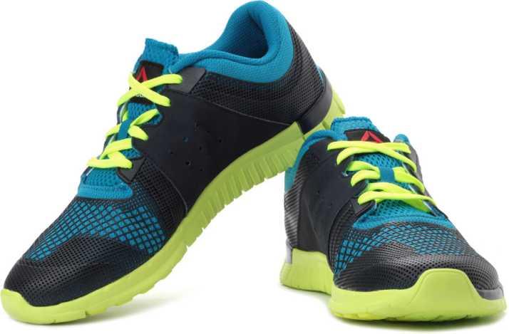 5968862070ea3 REEBOK Z Fury Running Shoes For Men - Buy Blue, Yellow Color REEBOK Z Fury Running  Shoes For Men Online at Best Price - Shop Online for Footwears in India ...