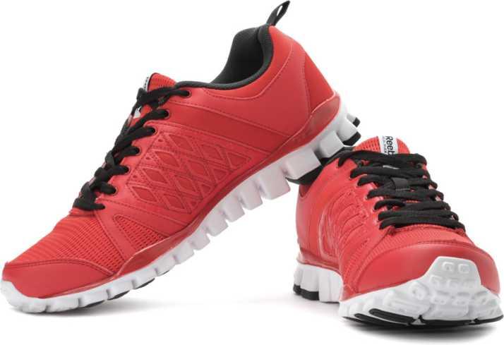 the best attitude 40647 d0e7d REEBOK Realflex Advance 2.0 Running Shoes For Men (Red, Black)