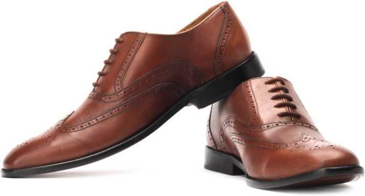 a13b01b898 Park Avenue Genuine Leather Lace Up Shoes For Men - Buy Tan Color ...