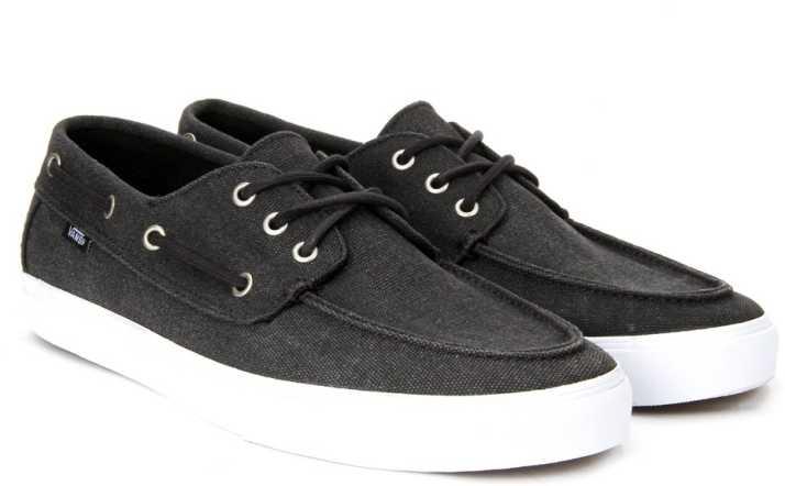 8b6324df324da1 Vans CHAUFFEUR SF Boat Shoes For Men - Buy (WASHED) BLACK Color Vans ...