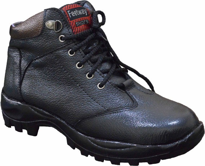 Feetway genuine leather steel toe