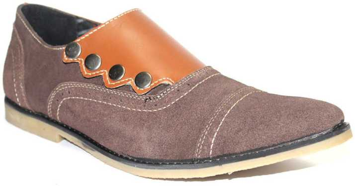 ef220310de4 Guava Suede Leather Stylo- Brown Casual Shoes For Men - Buy Brown ...