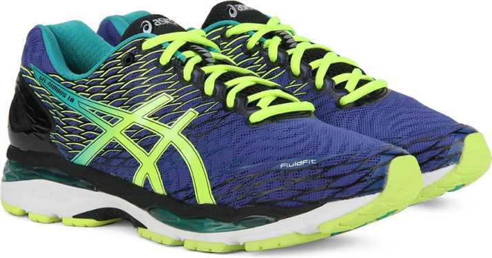 6c29f2330111 Asics GEL-NIMBUS 18 Running Shoes For Men - Buy ASICS BLUE FLASH ...