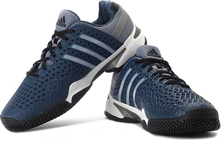 online store 6f451 ac2dd ADIDAS Adipower Barricade 8+ Tennis Shoes For Men (Blue, Grey)