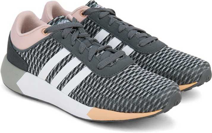 more photos 7071e 0bb13 ADIDAS NEO CLOUDFOAM RACE W Sneakers For Women (Grey, Pink, White)