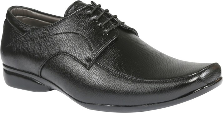Tycoon Big and Tall Black Lace Up Shoes