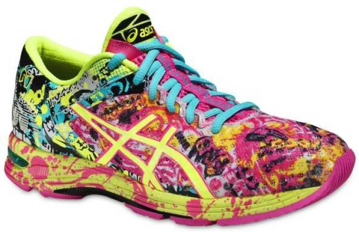 asics multicolor womens tennis shoes yellow