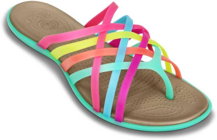994ba7d6bff3 Crocs Flip Flops - Buy Multi Island Green Color Crocs Flip Flops Online at  Best Price - Shop Online for Footwears in India