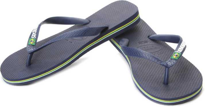 edb959402 Havaianas Brasil Logo Flip Flops - Buy Navy