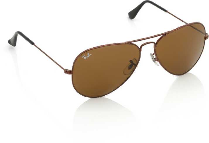 837e398fb39 Buy Ray-Ban Aviator Sunglasses Brown For Women Online @ Best Prices ...