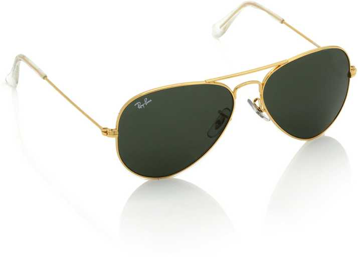 6794f57089 Buy Ray-Ban Aviator Sunglasses Green For Women Online   Best Prices ...