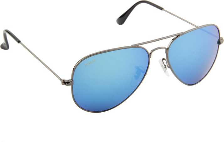 38fab9f390 Buy Voyage Aviator Sunglasses Blue For Women Online   Best Prices in India