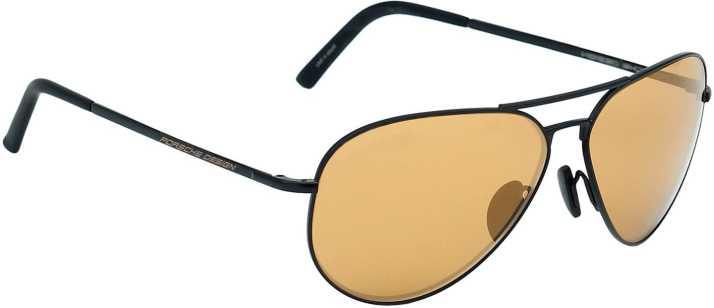 9b4eaca208 Buy Porsche Design Aviator Sunglasses Brown For Men   Women Online   Best  Prices in India