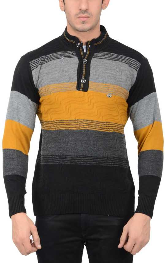 195a0c5b D.OSWAL Striped V-neck Men Multicolor Sweater - Buy BLUE D.OSWAL Striped  V-neck Men Multicolor Sweater Online at Best Prices in India | Flipkart.com