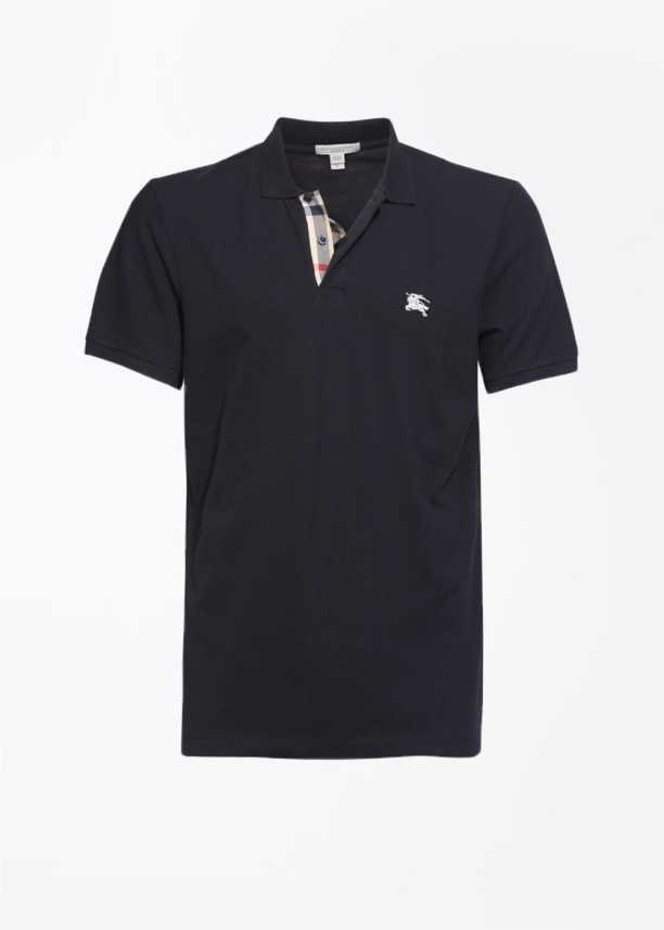 8e9d841a03 Burberry Solid Men s Polo Neck Black T-Shirt - Buy BLACK Burberry ...
