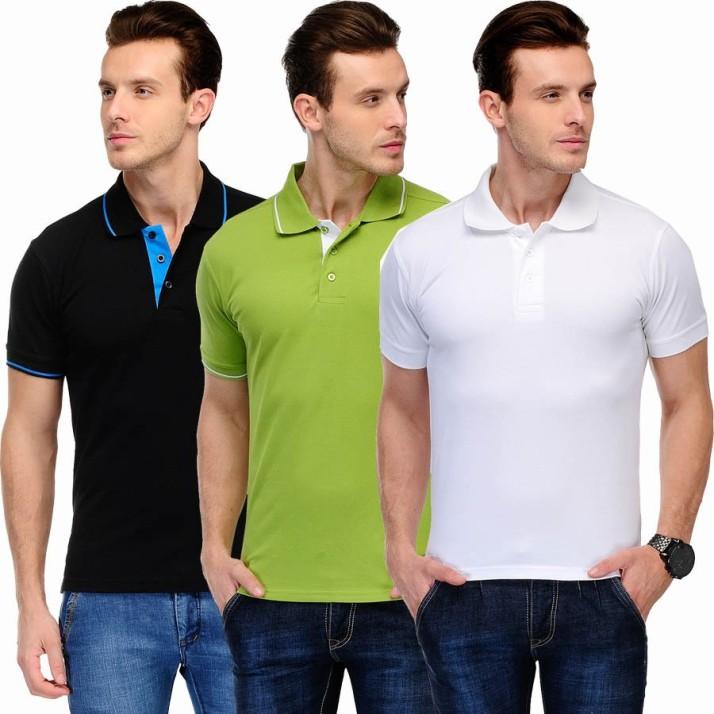Scott International Mens Polo Half Sleeve T-Shirt Large Black