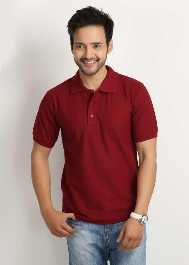 1231e1d9 Weardo Solid Men's Polo Neck Maroon T-Shirt - Buy Maroon Weardo Solid Men's  Polo Neck Maroon T-Shirt Online at Best Prices in India   Flipkart.com