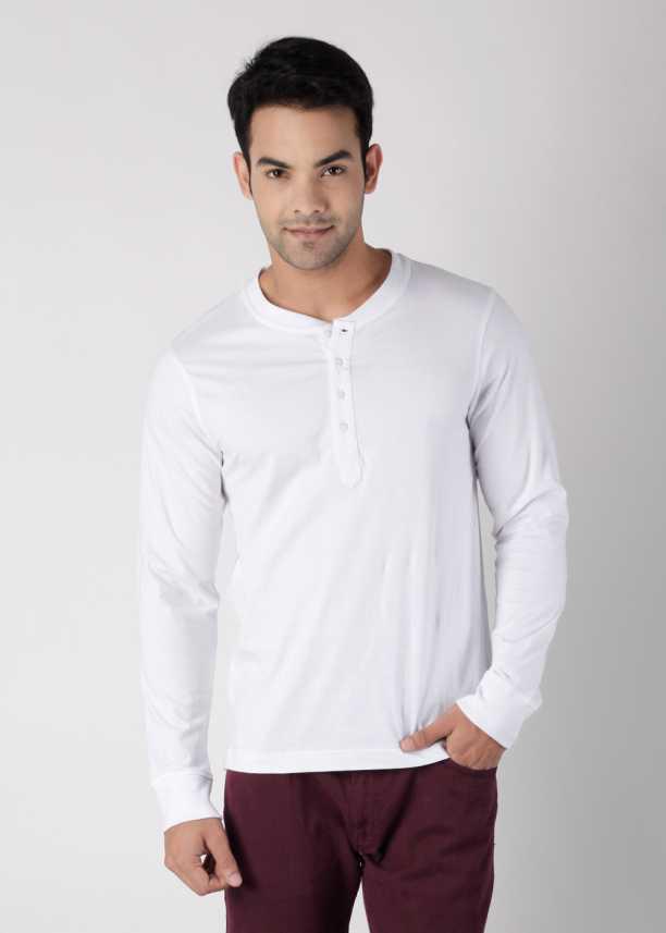 5d0272c9e1ff Home · Clothing · Men's Clothing · T-Shirts · Freecultr T-Shirts. Freecultr  Solid Men's Henley White T-Shirt