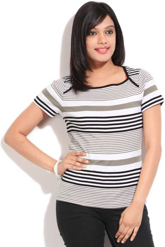 buy affordable price where to buy Debenhams-Maine Womens Casual Short Sleeve Striped Women Beige ...