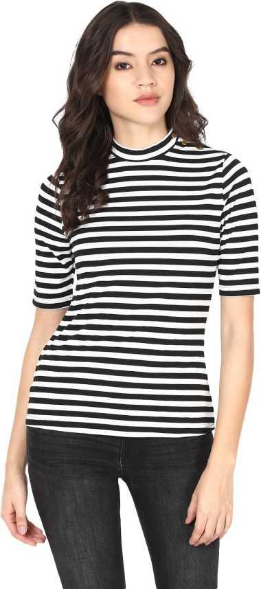 a088d8d823b8 Harpa Casual Short Sleeve Striped Women White Top - Buy White Harpa Casual  Short Sleeve Striped Women White Top Online at Best Prices in India |  Flipkart. ...