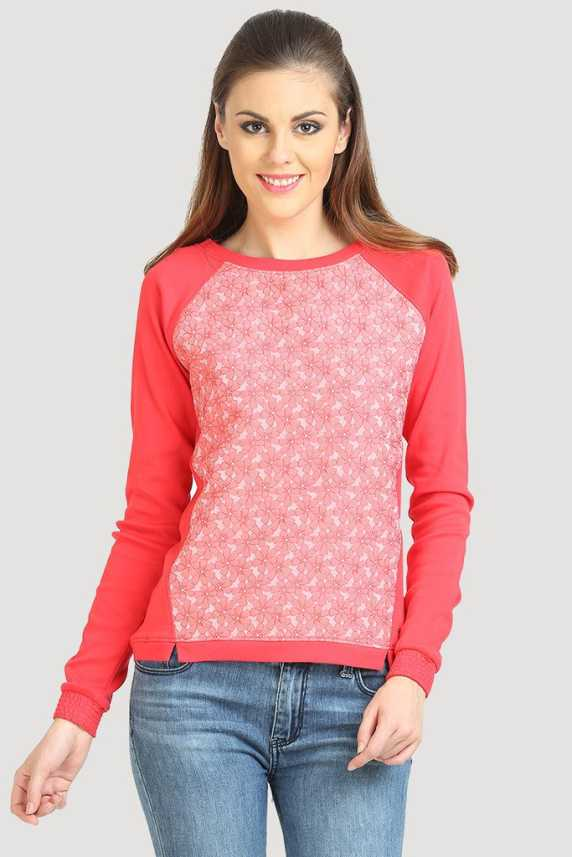 9ca2f253b4f42c Moda Elementi Casual Full Sleeve Floral Print Women's Pink Top - Buy Bitter  Sweet Moda Elementi Casual Full Sleeve Floral Print Women's Pink Top Online  at ...