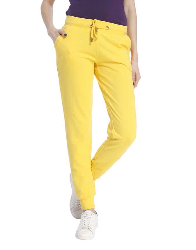 7e26fe78877 Only Solid Women s Yellow Track Pants - Buy Solar Power Only Solid Women s  Yellow Track Pants Online at Best Prices in India