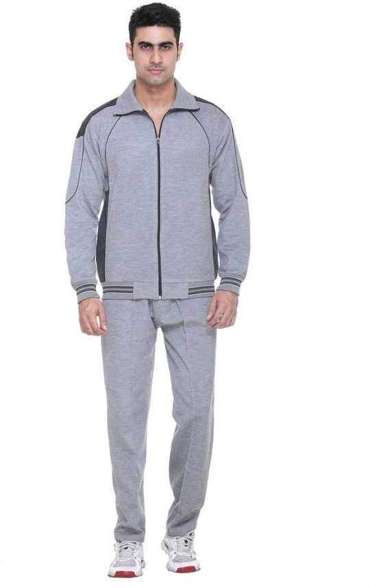 Warm Up Solid Men s Track Suit - Buy Light Grey Melange Warm Up Solid Men s  Track Suit Online at Best Prices in India  225e2b371