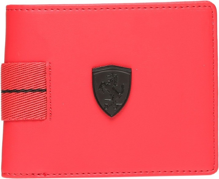 puma ferrari red wallet