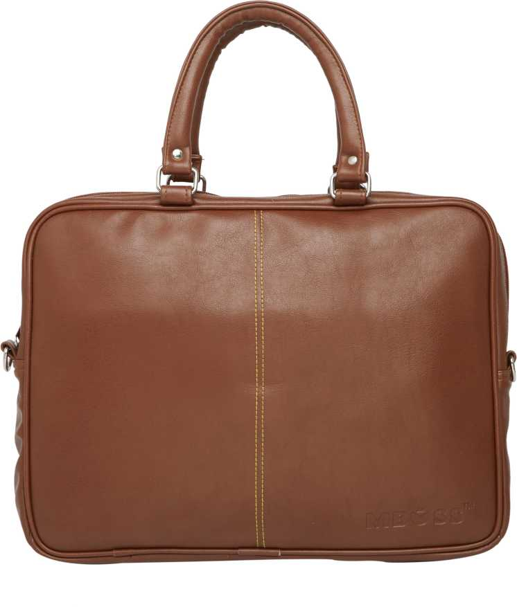 Mboss14 inch Laptop Messenger Bag Tan