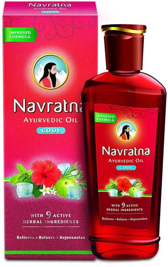 Navratna Cool Ayurvedic Hair Oil Price in India