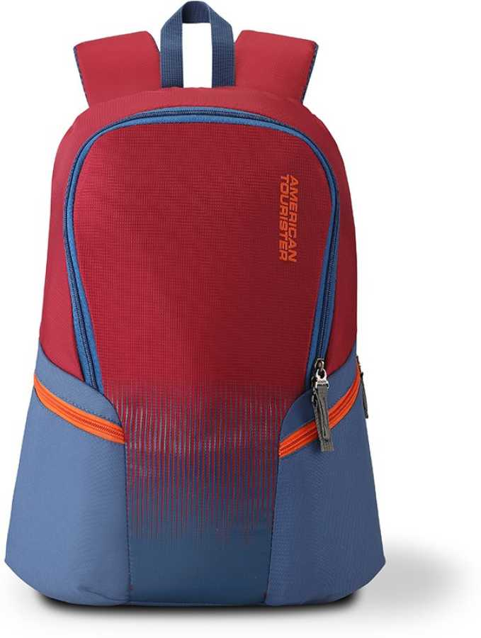 American Tourister Skip Day Pck 01 19 L Backpack (Blue, Maroon)