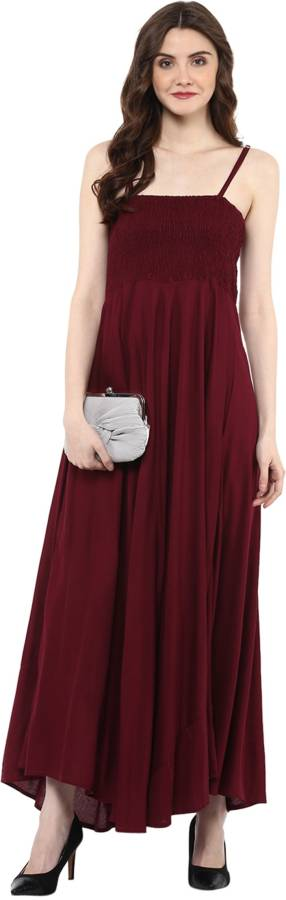 Solid Cotton Rayon Blend Stitched Straight Gown