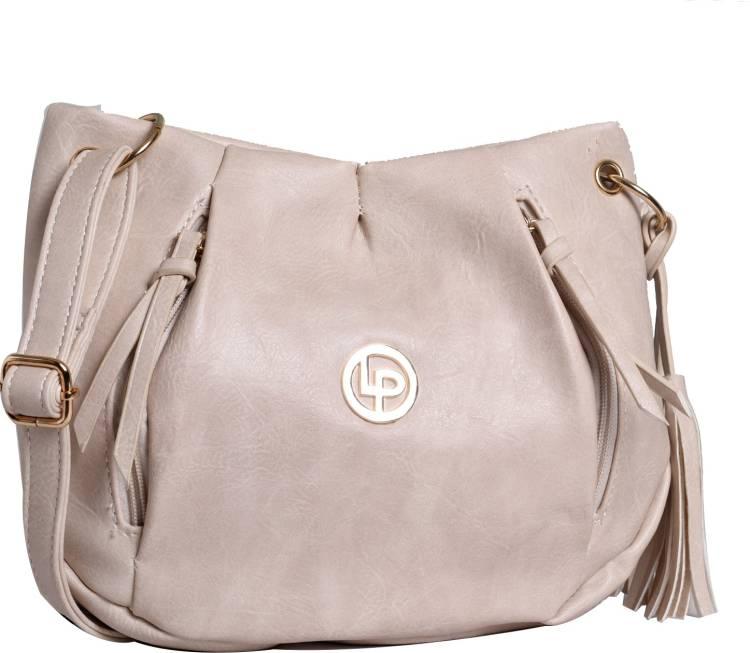 Lino Perros Beige Sling Bag Price in India